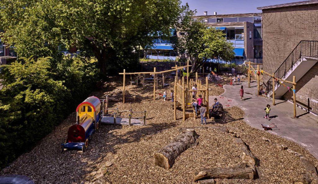 groenblauw schoolplein rotterdam